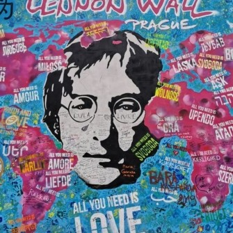 Why is there a John Lennon wall in Prague?
