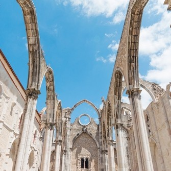 Carmo Convent, gothic ruins in Lisbon